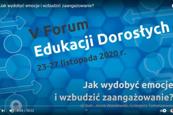 Forum Edukacji Dorosłych to idalna platofrma do rozwoju umiejętności trenerskich